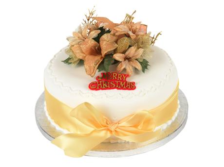 Gold Xmas Cake